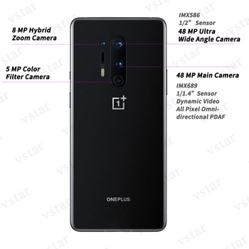 Global Firmware Oneplus 8 Pro 5G SmartPhone 6.78 inch Snapdragon 865 Octa Core Android 10 30W Charger 2K 120Hz NFC 5