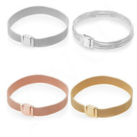 100% 925 Sterling Silver Reflections Bracelets Bangles Clasp Clip Charm Fits European bracelet Charm Beads DIY Making