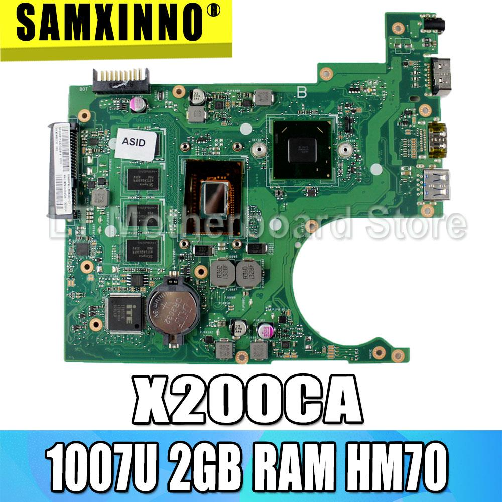 Original <font><b>X200CA</b></font> Mianboard for <font><b>ASUS</b></font> <font><b>X200CA</b></font> laptop motherboard REV:2.1 with 1007U 2G RAM HM70 USB3.0 mainboard 100% tested S-4 image