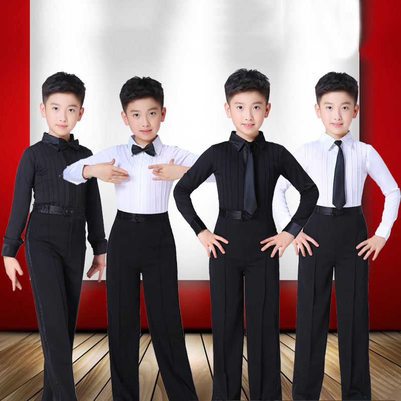 Fashion Latin Dance Costume For Boys Tango Salsa Cha-cha Rumba Samba Practice Wear Kids Ballroom Performance Clothing DC3387