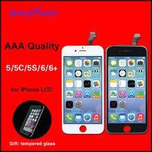 AAA جودة آيفون 6 5 5s 5C SE شاشة LCD تعمل باللمس محول الأرقام الجمعية أسود/أبيض بانتيلا آيفون 5 LCD
