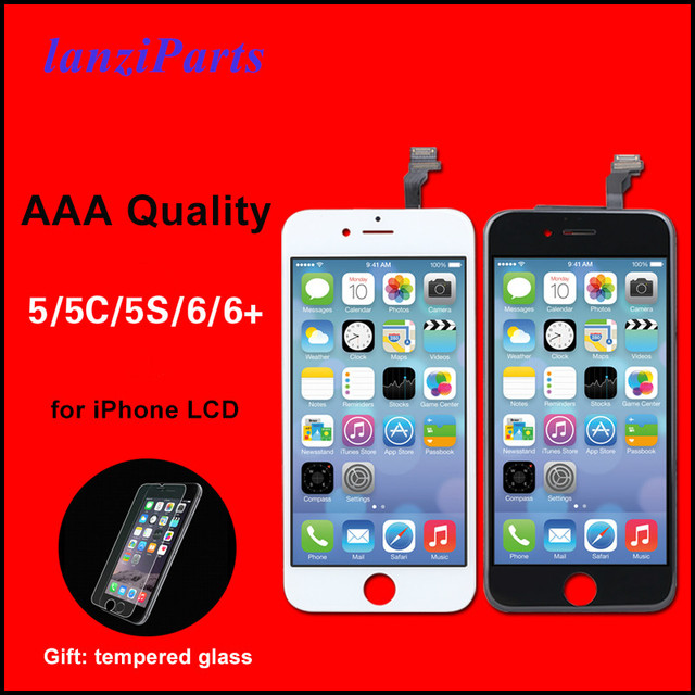 Pantalla LCD de calidad AAA para iPhone 6, 5, 5S, 5C, SE, montaje de digitalizador con Pantalla táctil, color negro/blanco