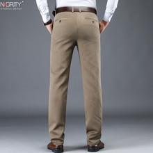NIGRITY Pantalones largos informales a la moda para hombre, pantalón largo clásico, recto y elástico, talla 28 42, para otoño e invierno, 2020