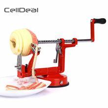 CellDeal 3 en 1 éplucheur de pomme acier inoxydable poire fruits éplucheur Corer tranchage cuisine Cutter Machine pelée outil cuisine créative