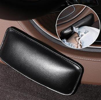 Rodillera de cuero para coche, cojín de Interior para Mercedes Benz GL63 gl-class G65 G550 G350 E300 GLC GLC43 G350d EQA E43 clase X