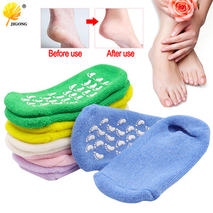 Hidratante branqueamento esfoliante pé máscara luvas spa gel meias mão máscara pés cuidados beleza algodão meias