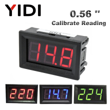 AC 30-500V AC 0-600V 0,56 ''Цифровой вольтметр калибровка чтения DC 3,5-30 V DC 0-100V красный зеленый синий отображение напряжения на светодиодном дисплее
