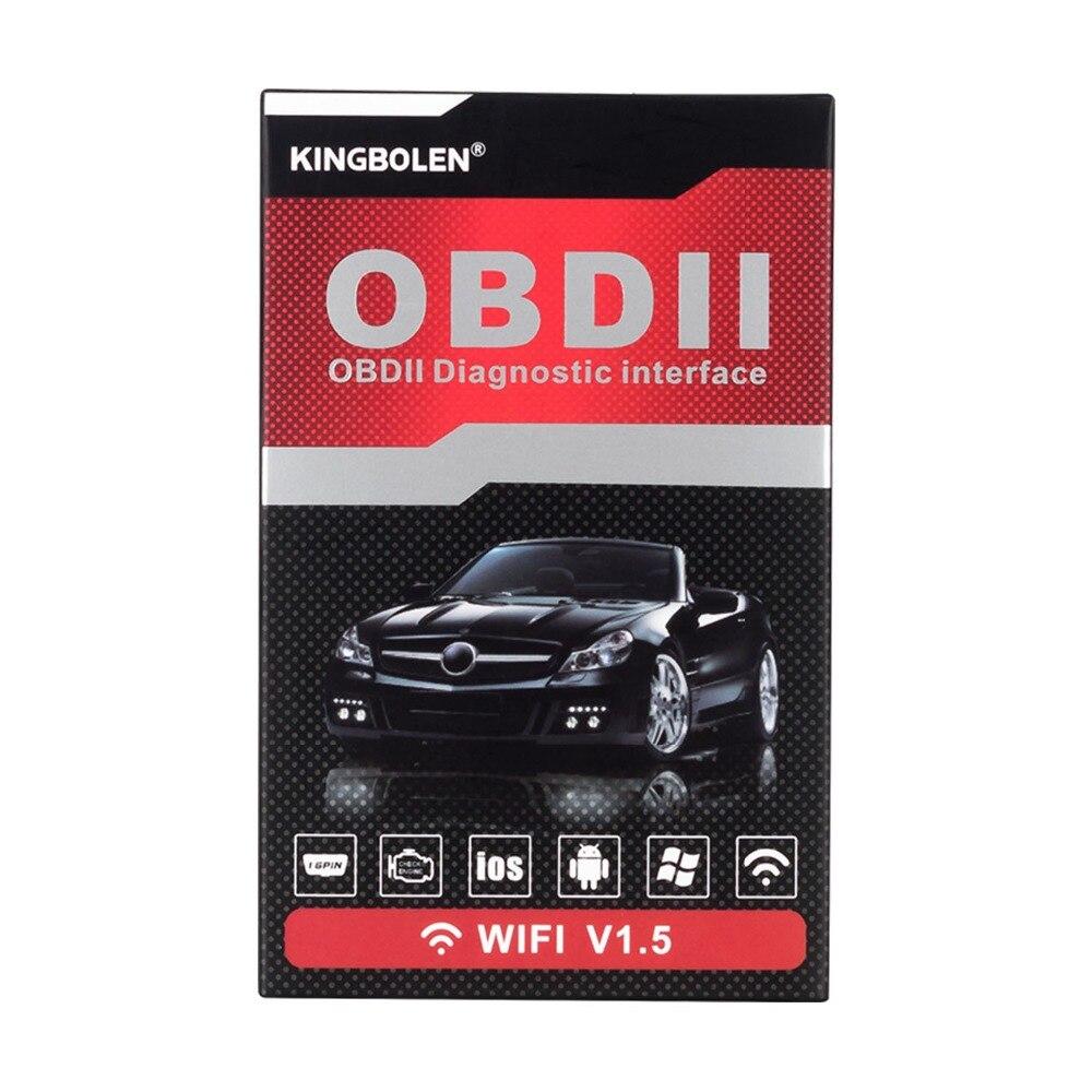 Hdbb3c8bba8b049188b155a6c52a7df58W OBD2 ELM327 V1.5 Bluetooth/WIFI Car Diagnostic Tool ELM 327 OBD Code Reader Chip PIC18F25K80 Work Android/IOS/Windows 12V Car