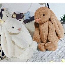 Conejo de peluche de orejas largas, muñeco de peluche suave, colgante, regalos de cumpleaños para niñas