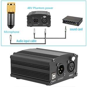 Image 4 - USB فانتوم الطاقة ل bm 800 ميكروفون ستوديو جهاز التحكم في الصوت bm800 كاريوكي مكثف ميكروفون فانتوم الطاقة ل bm 800 هيئة التصنيع العسكري
