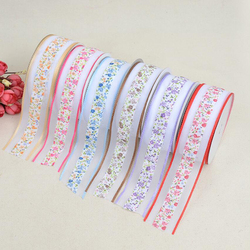 (20yards/lot) ruban gros-grain imprimé fleur 38mm pour bricolage Bow emballage cadeau accessoires de vêtements rubans de dentelle