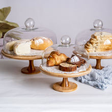 Trial-Plate Shelf Snack-Storage-Stand Cake Bread-Fruit with Glass-Cover Photo-Display