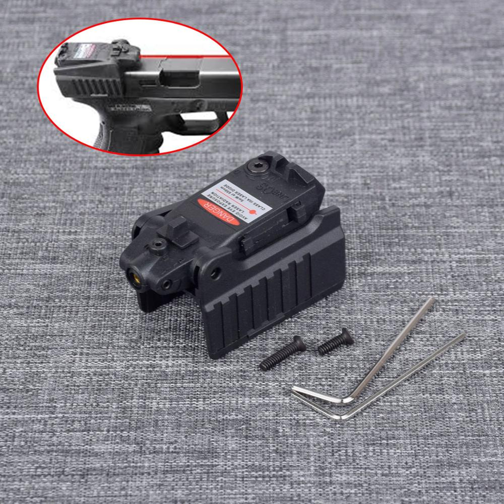 Tactical Red Laser Sight Fit For Airsoft KWA KSC Glock 17 19 22 23 25 26 27 28 31 32 33 34 35 37 38 Pistol Iron Rear Sight