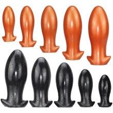 Vários tamanhos de silicone anal plug enorme butt plug brinquedos sexuais para mulher massageador masturbador anal macio elástico confortável para ânus