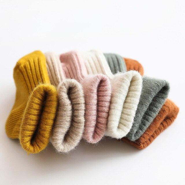 Thicken Baby Kids Socks Autumn Winter Cotton Striped Socks Warm Toddler Boy Girls Floor Socks Children Clothing Accessories 1