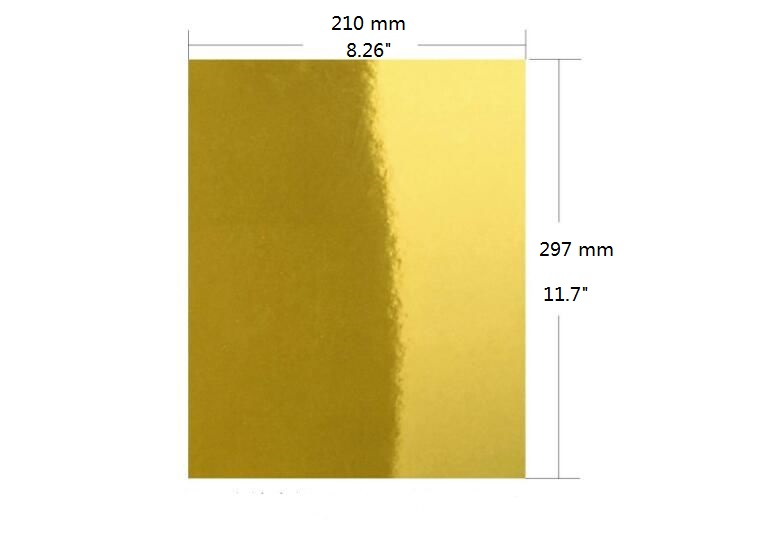 A4 SINGLE SIDE GOLD MIRROR CARDSTOCK METALLIC SHINY ART CARD FOR PAPER CRAFT CARDMAKING 2/10/30/50PCS YOU PICK