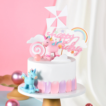 Cakesmile  pink unicorn cake topper cupcake party for baking decorating tools anniversary birthday décor