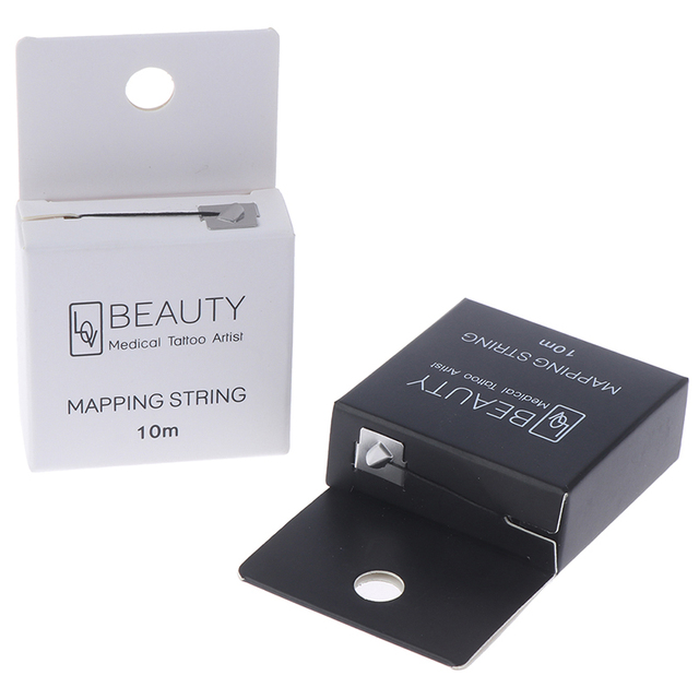 Pre-Inked Brow Mapping Strings Pigment String For Microblading PMU Accessories Brow Mapping Thread For Eyebrow Permanent Makeup 2