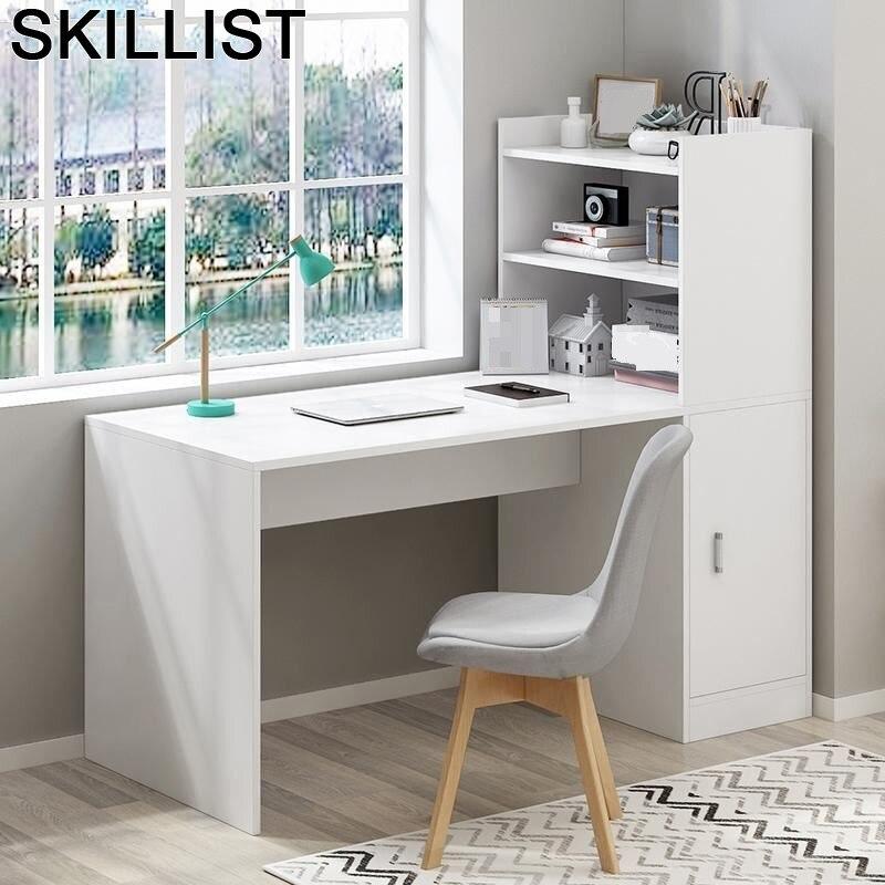 Escritorio Small Tafel Schreibtisch Tisch Notebook Portatil Escrivaninha Desk Mesa Bedside Tablo Laptop Table With Bookshelf