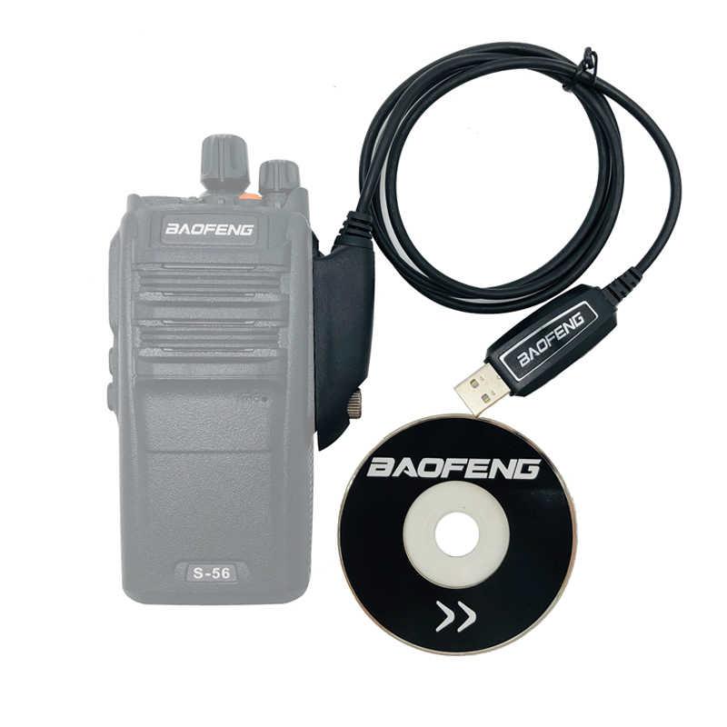 100% Asli BaoFeng Tahan Air UV-9R Plus USB Kabel Pemrograman dengan CD Driver untuk Walkie Talkie Uv9r Plus A58 BF-9700 Radio
