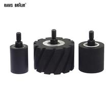 1 חתיכה OD35/50/80mm גומי קשר גלגל רולר עם פיר M10 * 12mm טחינת מלטש מכונה מטחנת החגורה חלק
