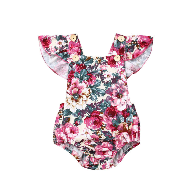 2019 Newborn Infant Kid Baby Girl Bodysuit Sleevless Jumpsuit One-piece Outfit Girls Sunsuit Summer Casual Clothes 0-24M
