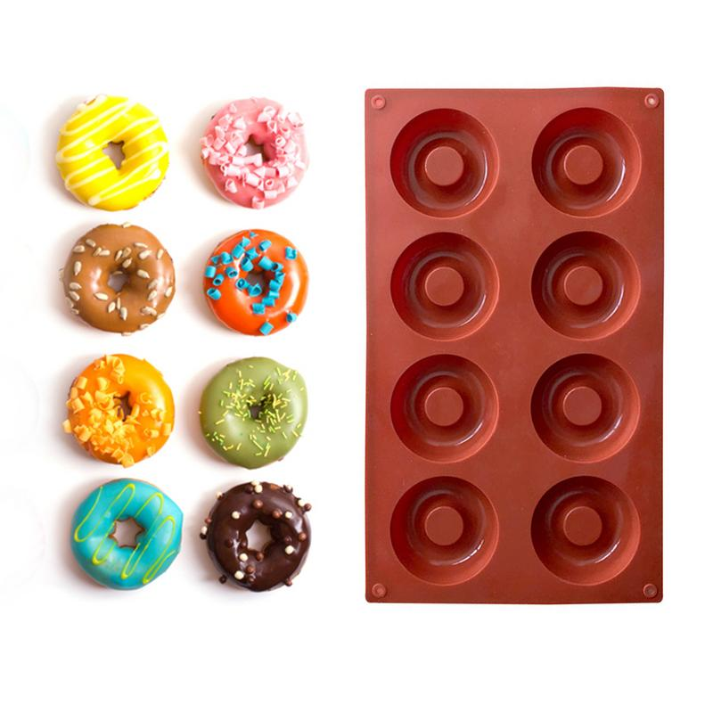 8-Link Silicone Donuts Cookies Chocolate Cake Mold