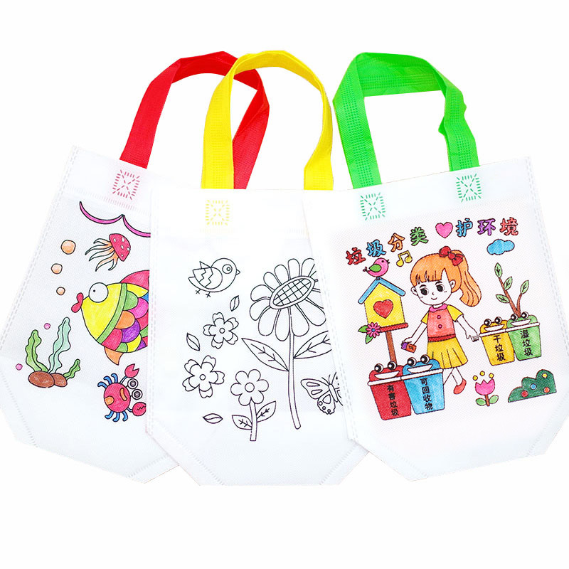 14 Color Kids Graffiti Bag Antistress Puzzles Educational Toy For Children DIY Graffiti Bag Kindergarten Hand Painting Toys Gift