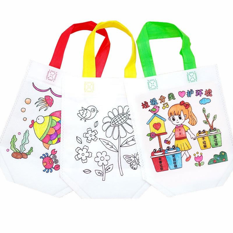 14 Color Kids Graffiti Bag Antistress Puzzles Educational Toy For Children DIY Graffiti Bag Kindergarten Hand Painting Toys Gift