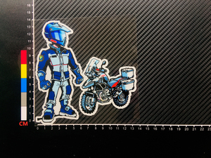 Image 3 - 1PCS Car Styling Vinyl Applique Tape Motorcycle Side Box Oil Tank Decorate Stickers for GS Adventure MOTO RIDE R1200GS