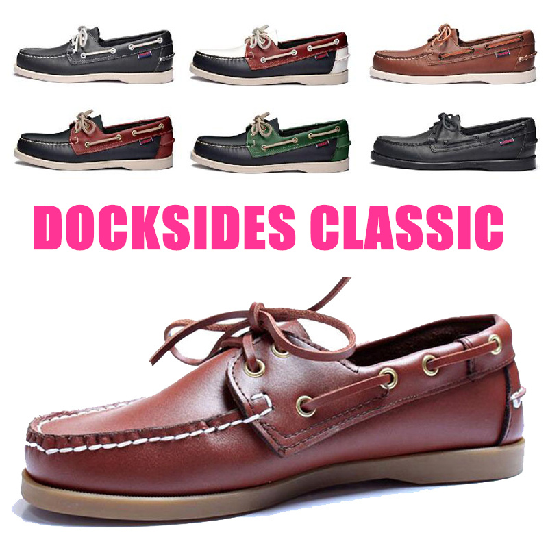 Genuine Leather Men Women Casual Shoes Tassel Boat Shoes Classic Loafers Lace Up Moccasins Driving Shoes England Flats A041