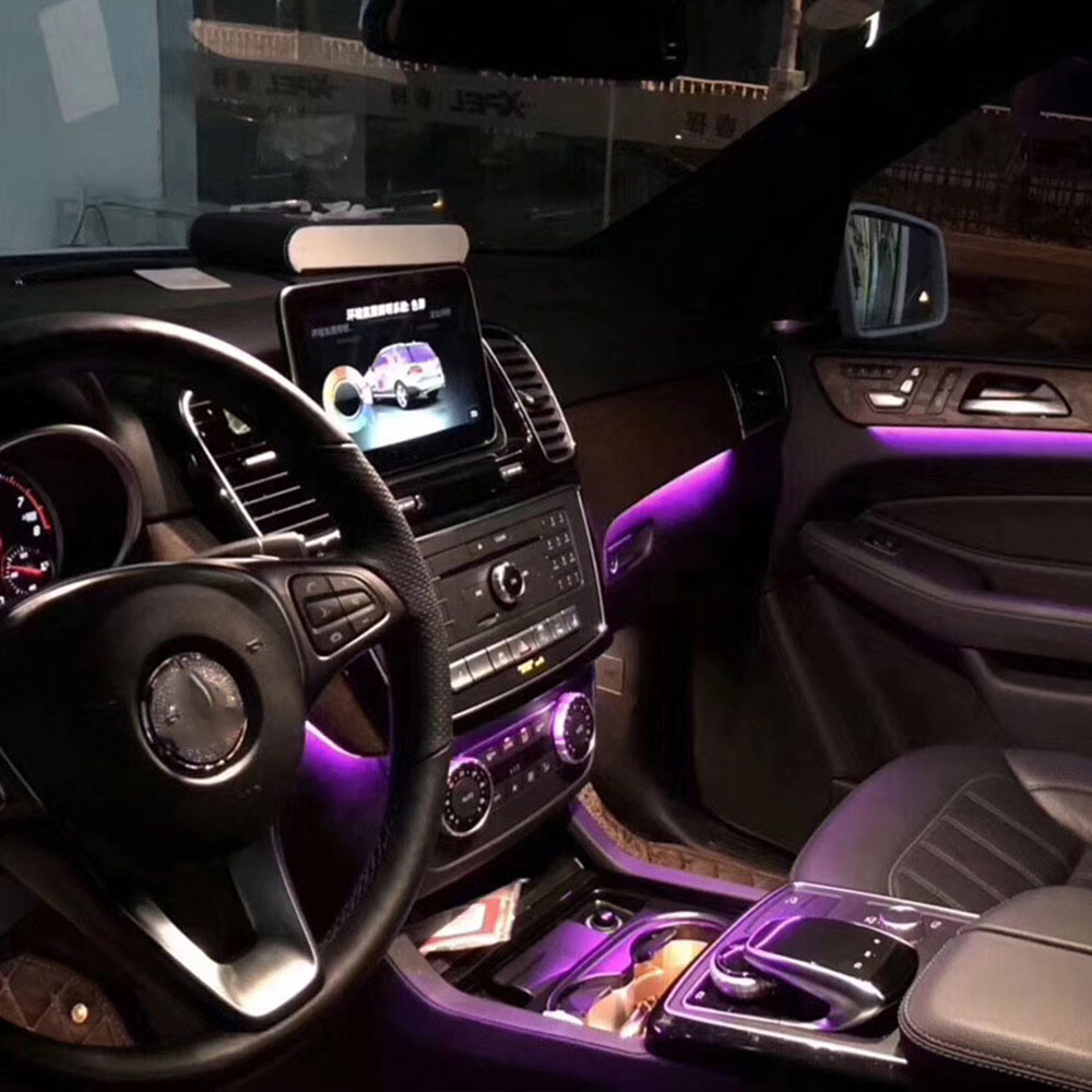 For Mercedes GLE GLS Class W292 W166 X166 Door GLE400 GLE63 Door Panel LED Ambient Lamp Atmosphere Lighting Center Console Part