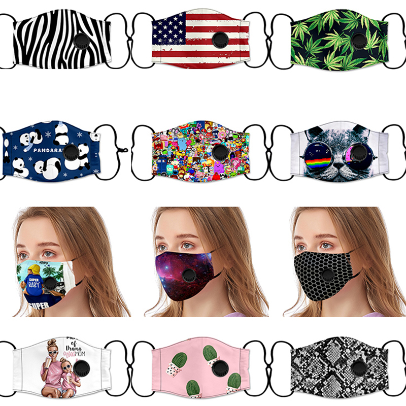 1pcs Fashion Face Mask For Woman Man New Anti-Dust Anti Pollution Washable Mask Cloth Activated Carbon PM2.5 Filter Fespira
