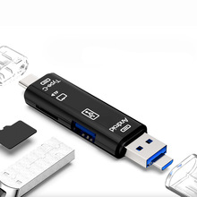 5 in 1 Type C Micro USB And USB OTG Card Reader High-speed Multifunctio USB2.0 U Disk OTG TF/SD for Android Phone PC Computer