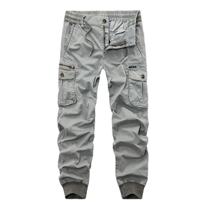 Image 1 - New 2019 Brand Casual Joggers Solid Breathable Pants Men Summer Army Military Style Trousers Mens Tactical Cargo Pants Male
