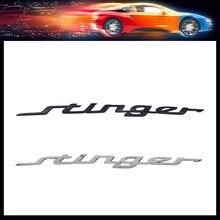 3d premium abs stinger capô do carro fender tronco capô decalque emblema adesivo para stinger gt 2018 2.0t 86311-j5100/86311j5100