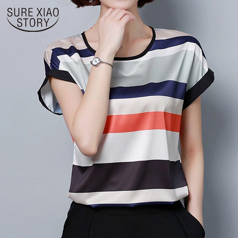 Fashion Plus Size Women   Blouse     Shirt   Summer Chiffon 4XL Ladies Tops Loose   Blouse   Women   Shirt   Blusas Femininas Blusas 0451 30
