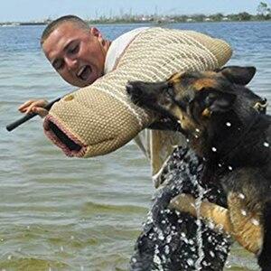 Treinamento do animal de estimação portátil manga de cânhamo mastigar mordida acessórios de brinquedo do cão pastor cachorro treinamento mordida-mangas abertas suprimentos