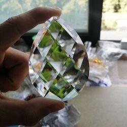 80mm szkło Art kryształowy pryzmat wisząca lampa wisząca lampa wiszący ornament DIY Suncatcher Faceted Teardrop|Kryształowy żyrandol|Lampy i oświetlenie -
