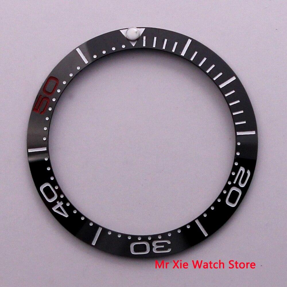 38mm High quality black ceramic bezel insert luminous dot fit 40mm watch case SUB Automatic watch