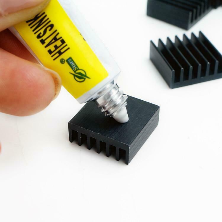 Штукатурка для радиатора термальная силиконовая смазка, клейкая охлаждающая паста, крепкая клейкая подложка для радиатора, 1 шт.