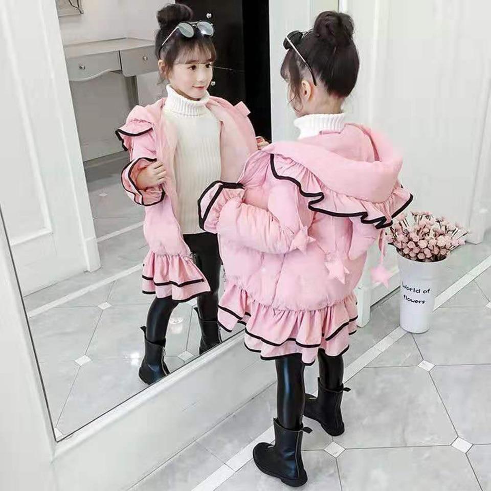 Rose/noir couleur veste d'hiver Parkas pour filles manteaux vêtements pour enfants vêtements de neige enfants vêtement d'extérieur pour filles enfant en bas âge fille vêtements