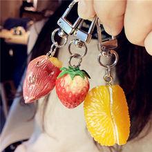 Пластиковая эмульсионная фруктовая цепочка для ключей креативный