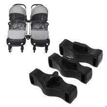 Пластиковая гнездовая вставка для коляски Yoyaplus соединитель коляски 3 упаковки черный