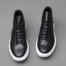 Top Brand Mens Genuine Leather Shoes Whi