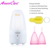 2-Pack Aneercare  Menstrual Cup Special Sterilizer Reusable Silicone Medical Grade Vaginal Tighten  Cups Cleaner Menstrual Cup 1 pcs menstrual cups menstruacion silicone menstrual cup coupe menstruelle vaginal cup menstrual for women period cup aneercare
