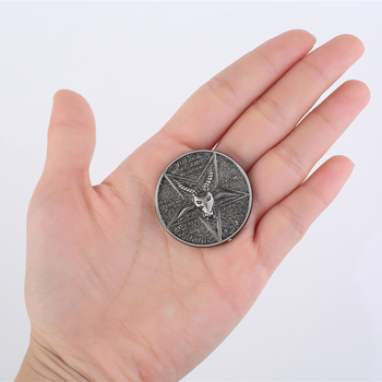 Lucifer Morning Star Satanic Pentecostal Coin Specie Cosplay Accessories Prop
