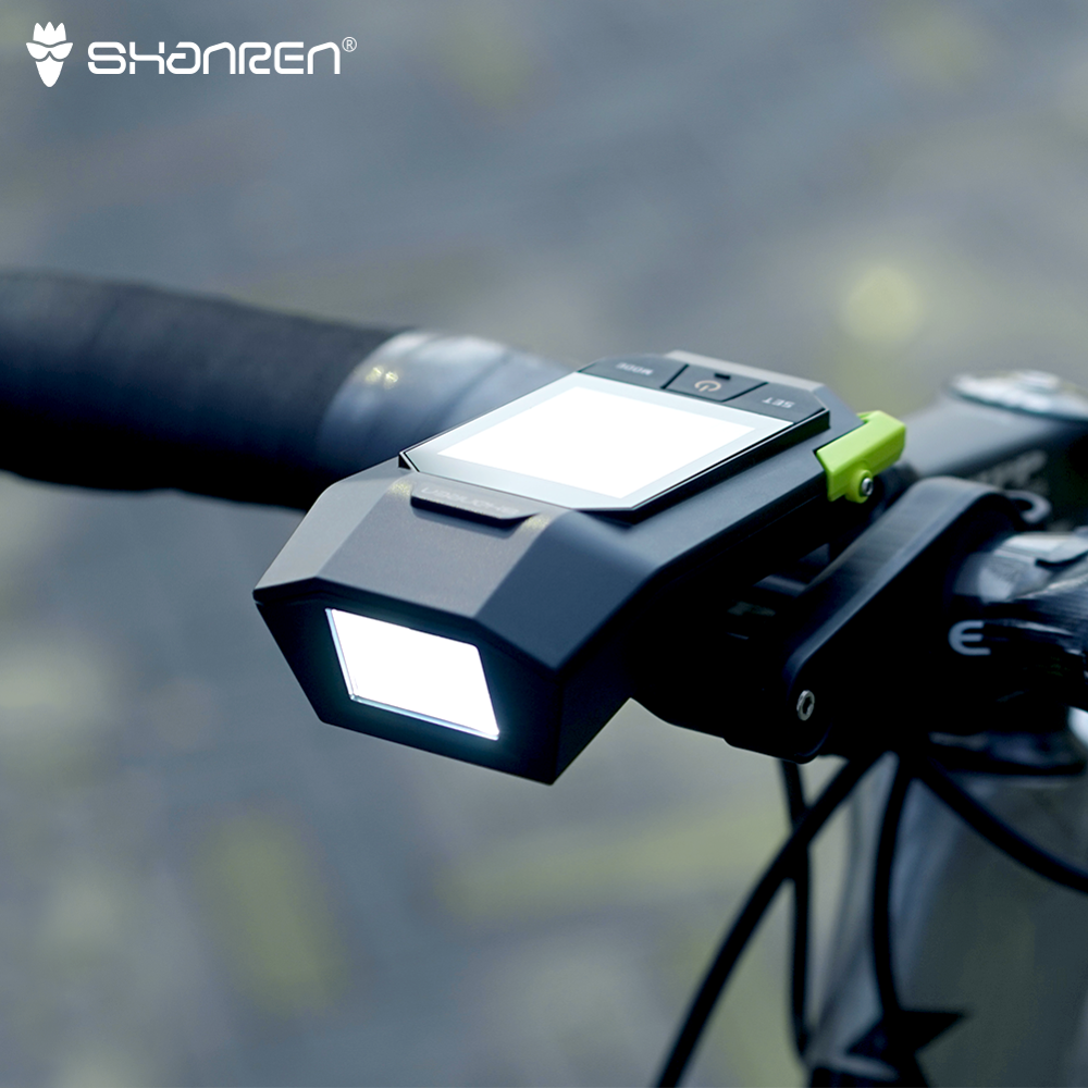 SHANREN Raptor II PRO Wireless Bike Computer With Integrated 400LM Headlight Cycling Cadence Computer