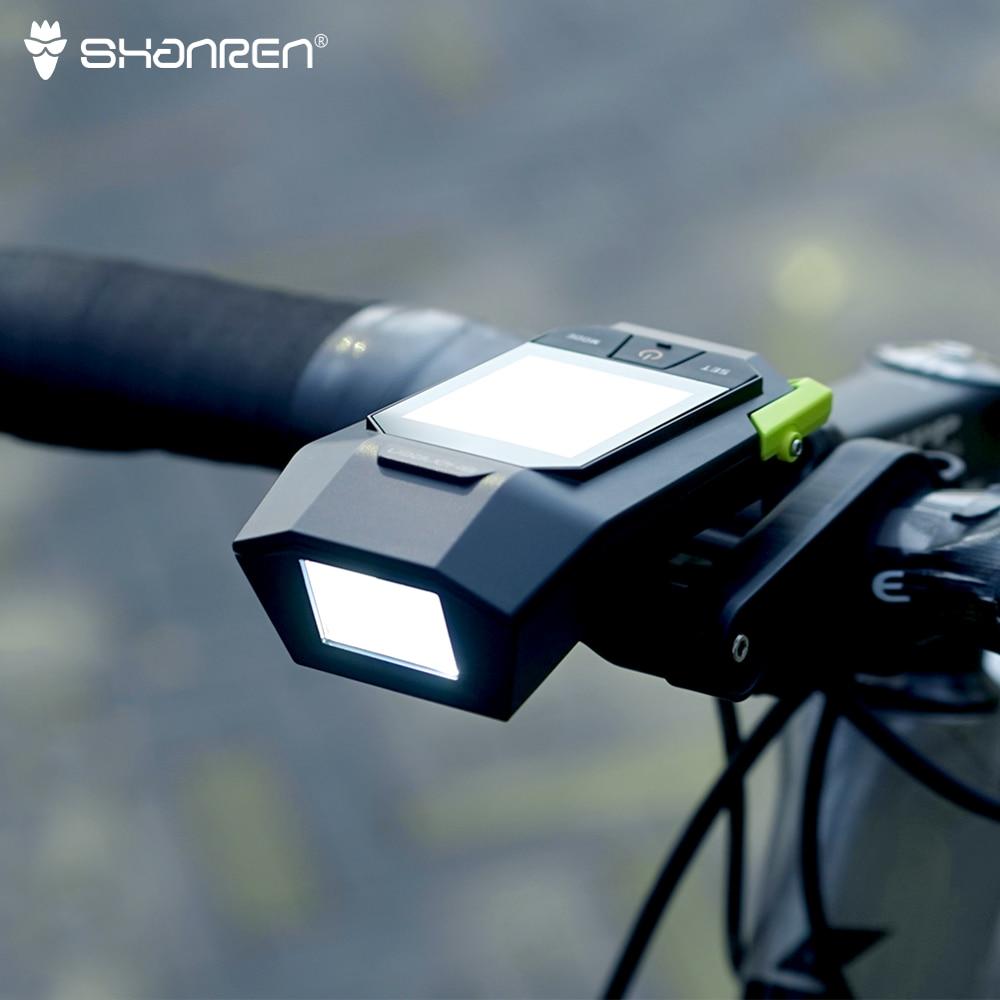 SHANREN Raptor II PRO Wireless Bike Computer With Integrated 400LM Headlight Cycling Cadence Computer