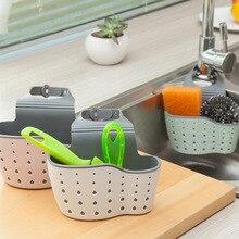 Adjustable Sponge Holder Draining Rack Sink Kitchen Bathroom Storage Shelf Drain Basket Tools